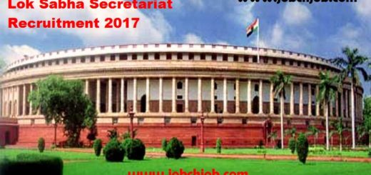 Lok Sabha Secretariat Recruitment 2017 1