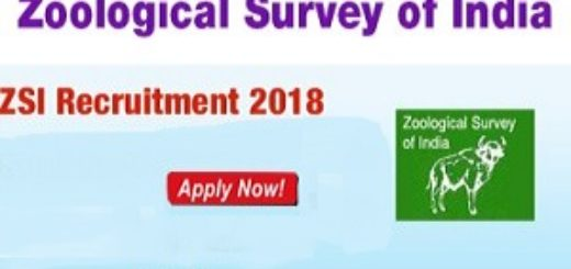 ZSI  Zoological Survey of India Recruitment 2018 Research Associate-Field Assistants 1