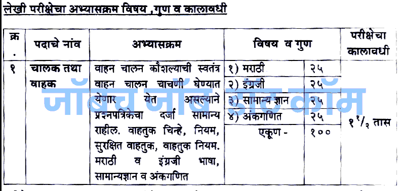 ST Mahamandal Bharti 2018 Driver Conductor Recruitment [msrtcexam.in] 9