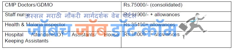 Central Railway Bharti 2020-Medical Staff Pay scale