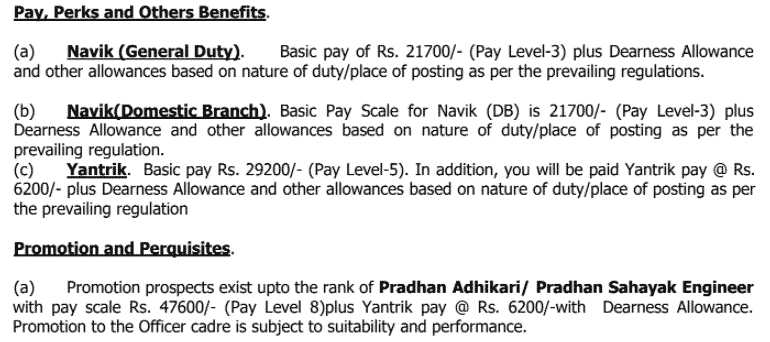 Pay scale for IGG Bharti 2021