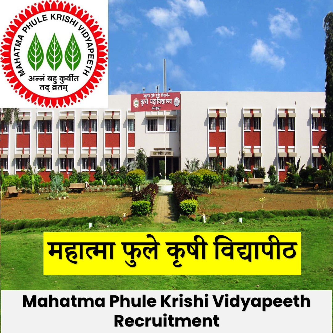 Mahatma Phule Krishi Vidyapeeth Vacancy[MPKV]Notification 2021:Research Fellow Vacancy